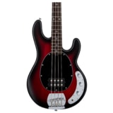 Sterling by MusicMan SUB StingRay4 H Ruby Red Burst, javorový hmatník