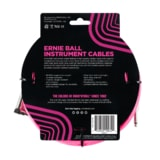 6078 Ernie Ball 10' Braided Straight / Angle Instrument Cable - Neon Pink
