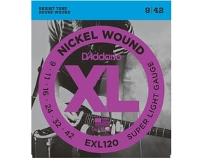 D´Addario EXL120 Nickel Wound Electric Super Light .09-.042  struny na elektrickou kytaru