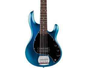 Sterling by MusicMan SUB StingRay5 Trans Blue Satin, Rosewood Fretboard