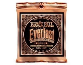 "2550 Ernie Ball Everlast Phosphor Bronze Extra Light Coated /10-50/ - ""potažené"" struny na akustickou kytaru"