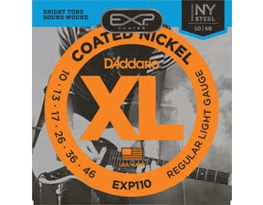 D´Addario EXP110 Coated Nickel NY Steel Electric Regular Light  .010-.046 struny na elektrickou kytaru