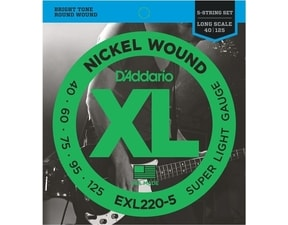 D´Addario EXL220-5 Nickel Wound Long Scale Bass Super Light - struny pro pětistrunnou basovou kytaru
