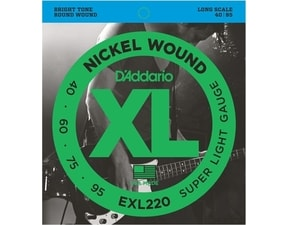 D´Addario EXL220 Nickel Wound Bass Super Soft Bright Tone .040-.095 struny na basovou kytaru