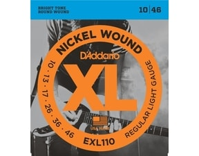 D´Addario EXL110 Nickel Wound Electric Regular Light  .010-.046 struny na elektrickou kytaru