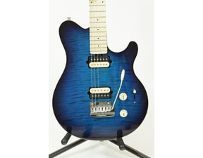 MusicMan Axis Super Sport HH STD - Balboa Blue Flame - Maple hmatník - No Pickguard