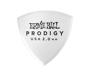 9337 Ernie Ball 2.0mm White Shield Prodigy Picks 6-pack