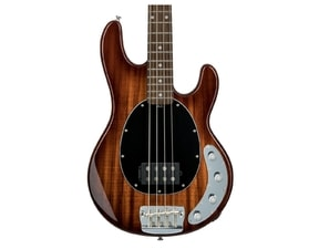 Sterling By MusicMan 4 String Bass Ray34 KOA, African Mahagony Body, Hawaiian Koa dýha Top, Vintage Burst Rosewood hmatník