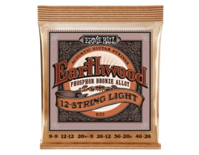 2153 Ernie Ball Earthwood 12 String Light Phosphor Bronze - Slinky Acoustic .009 - .046
