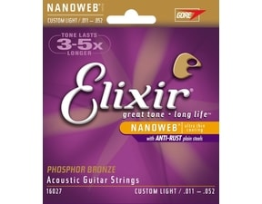 Elixir Acoustic Nanoweb Custom Light / 11 - 52 / - Phosphor Bronze