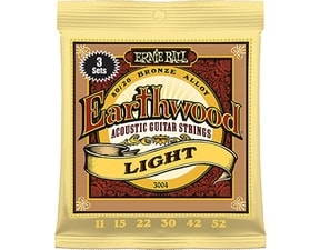 3004 Earthwood Medium Light .011 - .052 Acoustic 80/20 - 3 Pack
