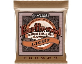 2148 Ernie Ball Earthwood .011-.052 Light Phosphor Bronze Acoustic Strings