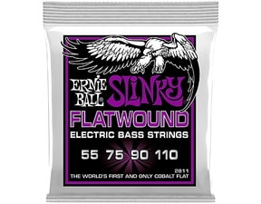 2811 Ernie Ball SLINKY FLATWOUND POWER 55 – 110