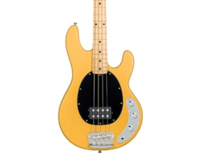Sterling by MusicMan Classic Active RAY24CA-BSC 4 String Bass, Butter Scotch finish, 2 band EQ, Mahagony body, Antique Stained maple neck