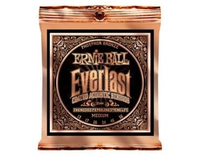 "2544 Ernie Ball Everlast Phosphor Bronze Medium Coated /13-56/ - ""potažené"" struny na akustickou kytaru"