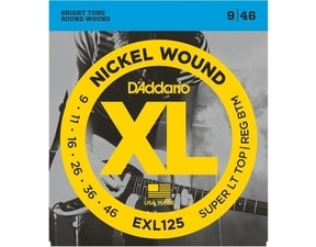 D´Addario EXL125 Nickel Wound Electric Super Light Top-Reg. Bottom .09-.046  struny na elektrickou kytaru