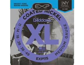 D´Addario EXP115 Coated Nickel NY Steel Electric Regular Medium .011-.049 struny na elektrickou kytaru
