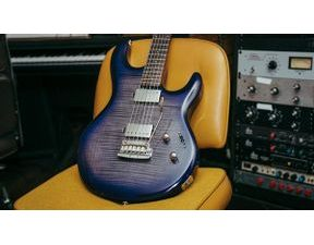 Sterling by MusicMan LK100-BLB Luke , Flame Top, Blueberry Burst - elektrická kytara