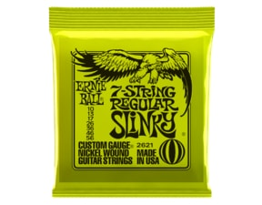 2621 Ernie Ball 7-string Regular Slinky Nickel Wound .010 - .056 Lime Green pack struny na elektrickou kytaru