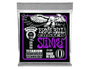 3120 Ernie Ball Coated Electric Titanium RPS Power Slinky .011 - .048""