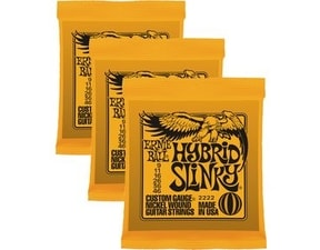 3222 Nickel Hybrid Slinky Orange Electric Guitar Strings 3 Pack