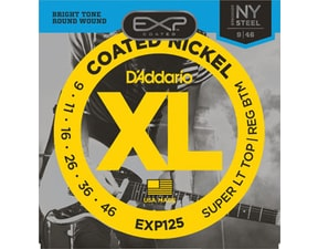 D´Addario EXP125 Coated NY Steel Electric Super Light Top/Regular Bottom .09-0.46 struny na elektrickou kytaru