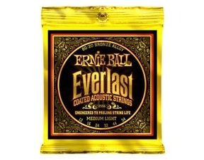 "2556 Ernie Ball Everlast 80/20 Bronze Medium Light Coated /12-54/ - "" potažené "" struny na akustickou kytaru"