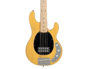 Sterling By MusicMan Classic Active RAY25CA-BSC 5 String Bass, Butter Scotch finish, 2 band EQ, Mahagony body, Antique Stained maple neck