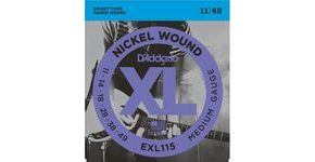 D´Addario EXL115 Nickel Wound Electric Blues/Jazz Rock  .011/.049 struny na elektrickou kytaru