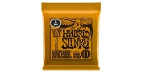 3222 Ernie Ball Nickel Hybrid Slinky Orange Electric Guitar Strings 3 Pack