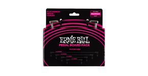 6224 Ernie Ball Flat Ribbon Patch Cables Pedalboard Multi-Pack - set propojovacích kabelů