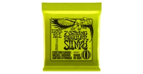 2621 7-string Regular Slinky Nickel Wound .010 - .056 Lime Green pack