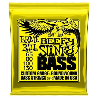2840 Ernie Ball Beefy Slinky Nickel Wound Electric Bass Strings - 65-130 Gauge