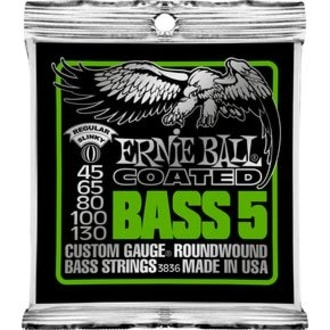 3836 Coated Bass Strings - Regular 5-String Bass  Strings .045 - .130