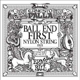 1521 Ernie Ball Black E1 Nylon Classical Ball End - 1ks