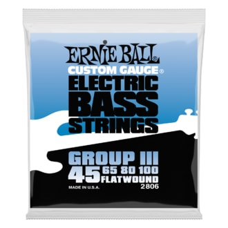 2806 Ernie Ball Flatwound Bass Group III .045 - .100