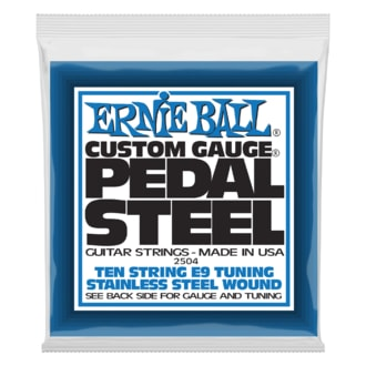 2504 Ernie Ball Pedal Steel Stainless Steel Wound 10-String E9 Tunning