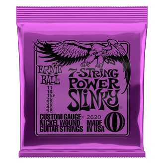 2620 Ernie Ball 7-string Power Slinky Nickel Wound .011 - .058 Purple pack struny na elektrickou kytaru