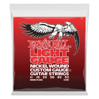 2208 Ernie Ball Light Electric Nickel Wound .011 - .052 w/ wound G struny na elektrickou kytaru