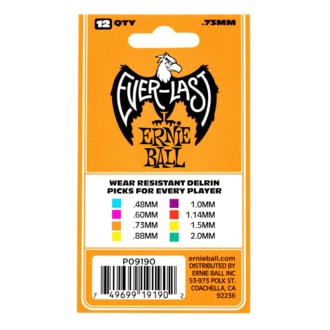 9190 Ernie Ball Everlast Picks Orange .73mm - kytarová trsátka 1ks
