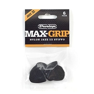 DUNLOP Nylon Max Grip Jazz III Black - 6ks