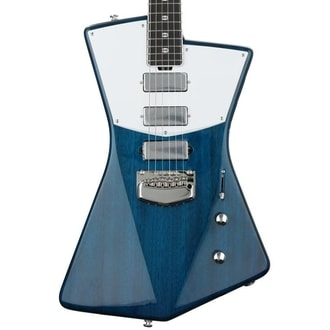 MusicMan St. Vincent Guitar - Translucent Blue - Wenge Board - CUSTOM BFR Model