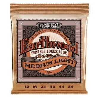 2146 Ernie Ball Earthwood Medium-Light Phosphor Bronze - Regular Slinky Acoustic .012 - .054