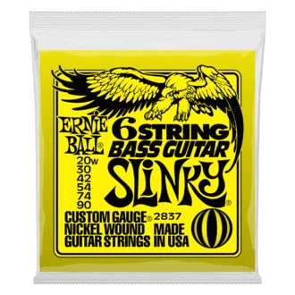 2837 Ernie Ball 2837 6-string Slinky Bass Guitar w/ small ball end 29 5/8 scale .020w - .090