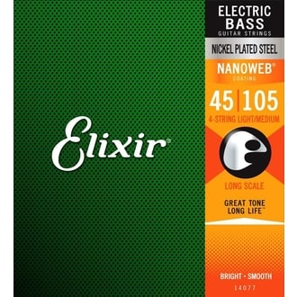 Elixir Bass Nanoweb Medium / 45 - 105 /