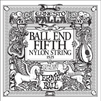 1525 Ernie Ball Black E5 Nylon Classical Ball End - 1ks