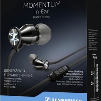 Sennheiser Momentum In-Ear G Black Chrome - sluchátka do uší