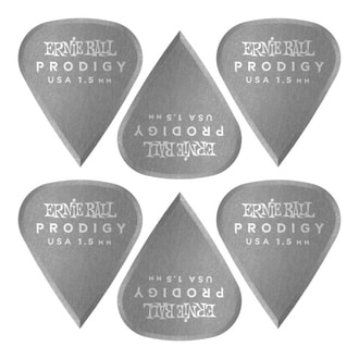 9335 Ernie Ball 1.5mm Black Sharp Prodigy Picks 6-pack