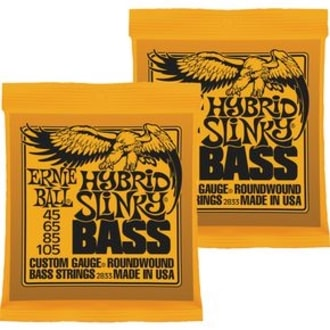 2833 Ernie Ball Hybrid Slinky .045-.105 Round Wound Bass Strings - 2-Pack