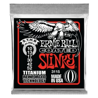3115 Ernie Ball Coated Electric Titanium RPS Skinny Top Heavy Bottom Slinky .010 - .052 struny na elektrickou kytaru